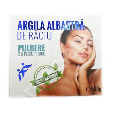 Pulbere de Argila Albastra de Raciu, 500 g, Romcos Impex