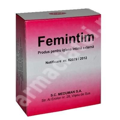 Pulbere pentru igiena intimă Femintim, 24 plicuri, Meduman