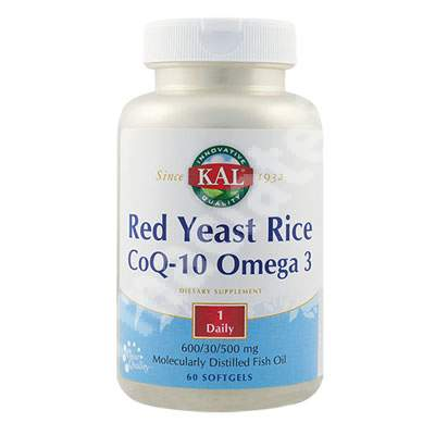 Red Yeast Rice CoQ10 Omega 3 Kal, 60 capsule, Secom