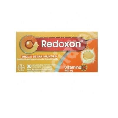 Redoxon vitamina C 1000 mg aroma de portocale, 30 comprimate efervescente, Bayer