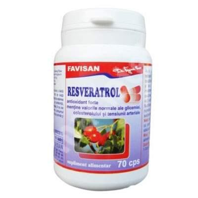 Resveratrol, 70 capsule, Favisan