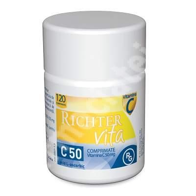 Richter VITA C 50, 120 comprimate, Beres Pharmaceuticals Co
