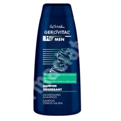 Șampon degresant - Gerovital H3 Men, 400 ml, Farmec