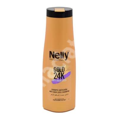 Sampon impotriva caderii parului Gold 24K, 400 ml, Nelly Professional