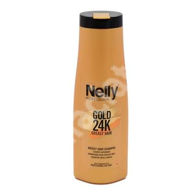 Sampon pentru par gras Gold 24K, 400 ml, Nelly Professional