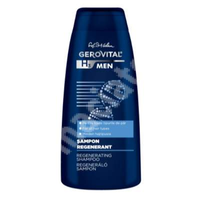 Șampon regenerant - Gerovital H3 Men, 400 ml, Farmec