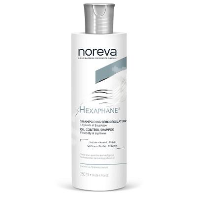 Sampon seboreglator pentru par cu tendinta de ingrasare Hexaphane, 250 ml, Noreva