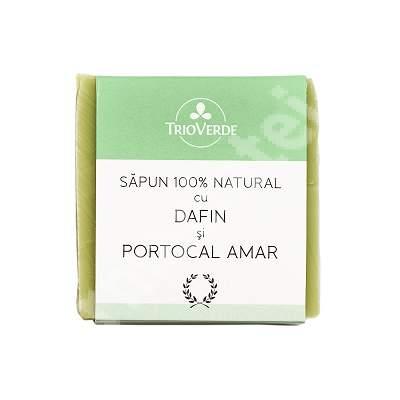 Sapun 100% natural cu dafin si portocal amar, 110 g, Trio Verde