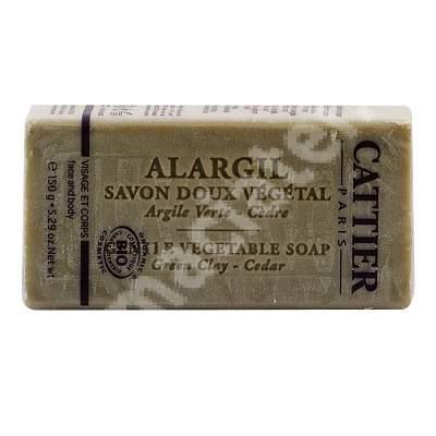 Sapun antiacneic cu argila verde Alargil, 150 g, Cattier