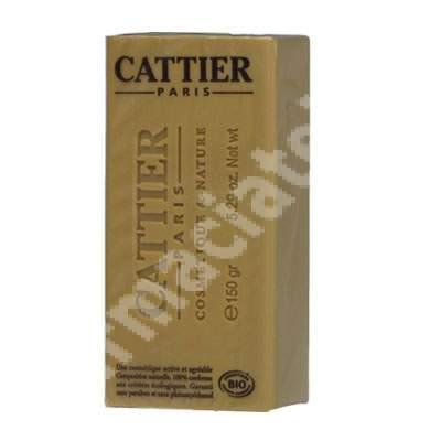 Sapun Bio cu argila alba si miere de lavanda, 150 g, Cattier