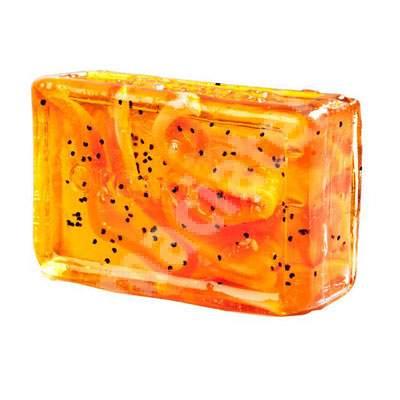 Sapun cu portocale si ardei iute, 100 g, Organique
