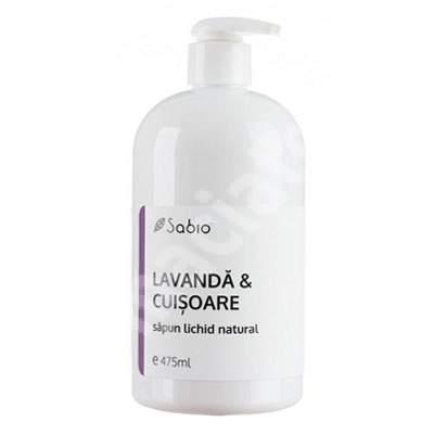 Săpun lichid natural cu lavanda și cuișoare, 475 ml, Sabio