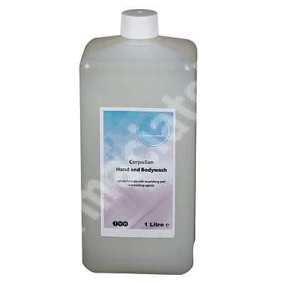 Sapun lichid pentru maini si corp Corpusan, 1L, Antiseptica