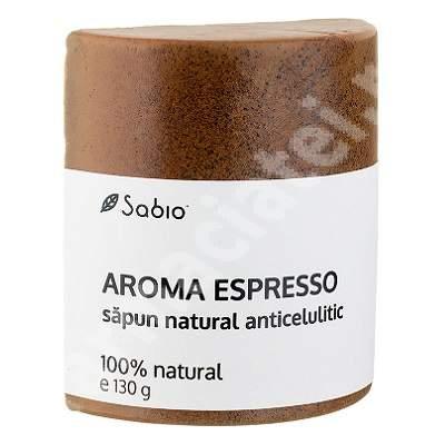 Săpun natural anticelulitic cu aroma espresso, 130 g, Sabio