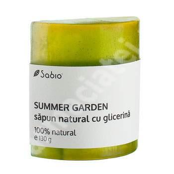 Săpun natural cu glicerina summer garden, 130 g, Sabio
