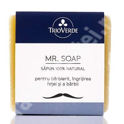 Sapun natural pentru barbierit, 110 g, TrioVerde