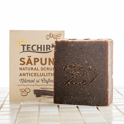 Săpun natural scrub anticelulitic, 120 g, Techir