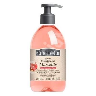 Sapun traditional de Marsilia cu parfum de Grapefruit, 500 ml, Le Comptoir du Bain