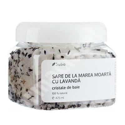 Sare de la Marea Moartă cu lavanda cristale de baie, 475 ml, Sabio