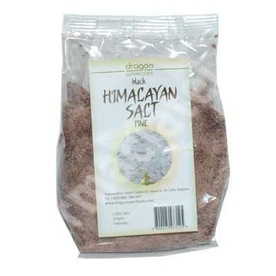 Sare neagră de Himalaya fină Eco, 250 g, Dragon Superfoods