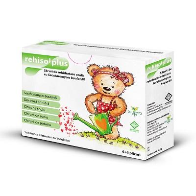 Săruri de rehidratare Rehisol Plus, 6 + 6 plicuri, Dr. Phyto