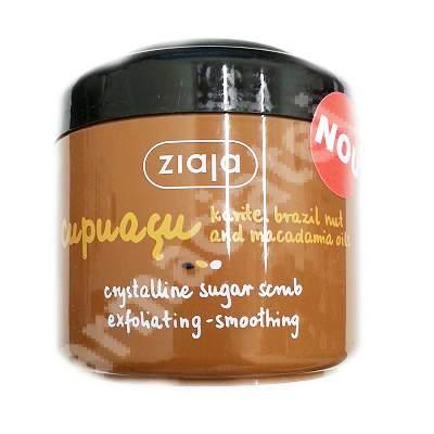 Scrub exfoliant cu zahar cristalin pentru corp Cupuacu, 200 ml, Ziaja