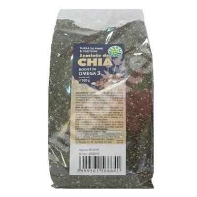 Seminte de Chia, 500 g, Herbavit