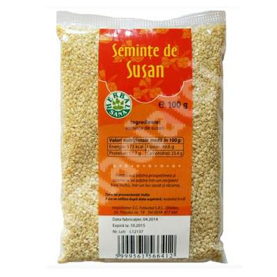 Seminte de susan, 100 g, Herbavit