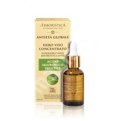 Ser concentrat pentru fata cu acid hialuronic vegetal, 30 ml, L'Erboristica