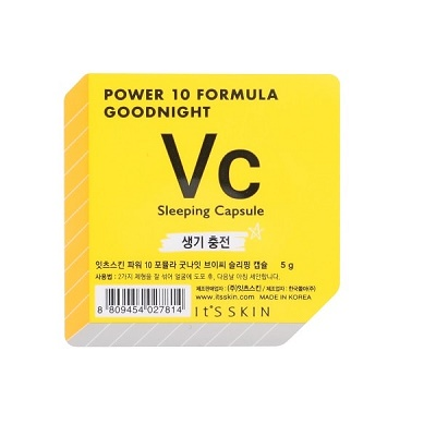 Ser de noapte pentru față Vc Power 10 Formula Goodnight, 5 g, Its Skin