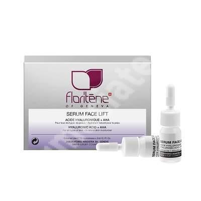 Ser facial cu acid hialuronic + AHA (179), 10 fiole, Floritene