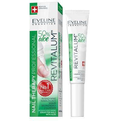 Ser intens hidratant pentru unghii cu 50% aloe Nail Therapy Revitalium, 8 ml, Eveline Cosmetics