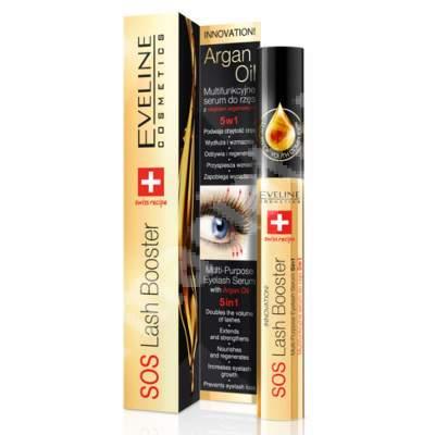 Ser regenerator pentru gene SOS Lash Booster 5ÎN1, 10 ml, Eveline Cosmetics