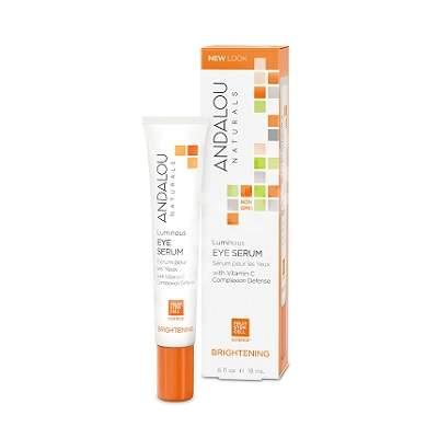 Serum contur pentru ochi pentru luminozitate Brightening Andalou, 18 ml, Secom
