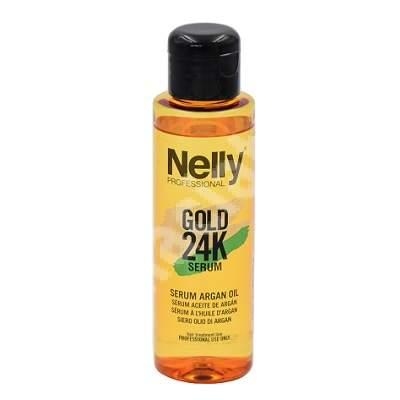 Serum cu ulei de Argan Gold 24K, 100 ml, Nelly Professional