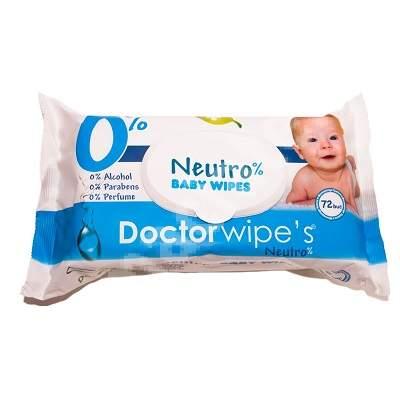 Servetele umede Neutro Baby, 72 bucati, Doctor Wipe's