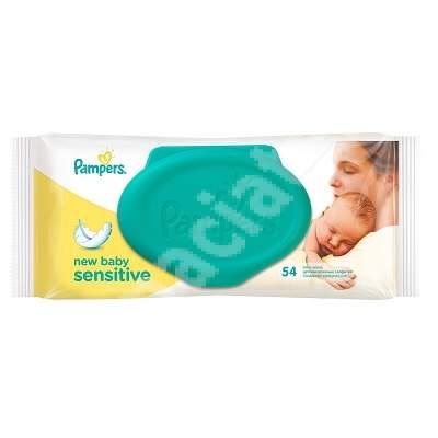 Șervetele umede, New Baby Sensitive, 54 bucăți, Pampers