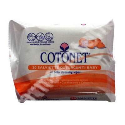 Servetele umede pentru copii Cotonet, 20 bucati, Sisma SPA