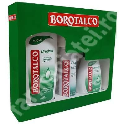 Set Gel dus Original, 500 ml + Deodorant spray Original, 150 ml + Sapun lichid Original, 250 ml, Borotalco