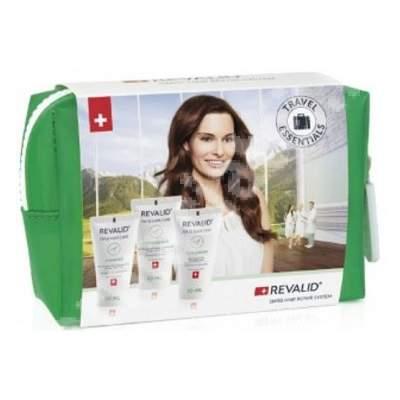 Set Revalid Șampon revitalizant, 30 ml + Balsam revitalizant, 30 ml + Masca reparatoare Revalid, 30 ml, Ewopharma