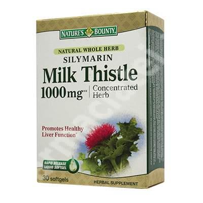 Silymarin Milk Thistle 1000mg, 30 capsule, Nature's Bounty