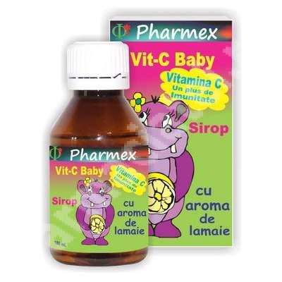 Sirop cu aroma de lamaie Vit-C Baby, 100 ml, Pharmex