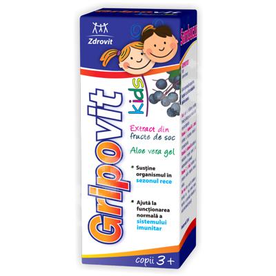 Sirop GripoVit +3 ani, 150 ml, Zdrovit