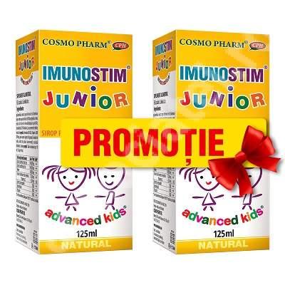 Sirop Imunostim Junior Advanced Kids, 125 ml + 125 ml, Cosmopharm