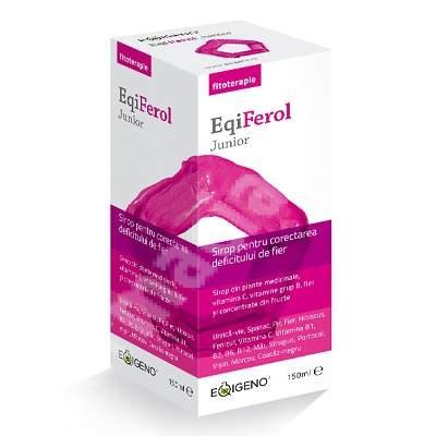 Sirop pentru corectarea deficitului de fier EqiFerol Junior, 150 ml, Eqigeno