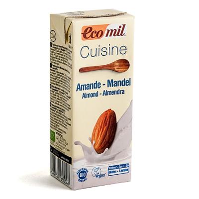 Smantana crema de migdale pentru gatit, 200 ml, Ecomil