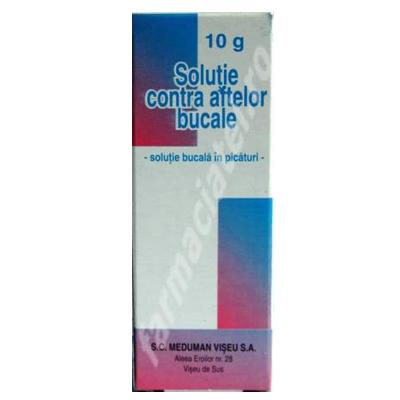 Soluție contra aftelor bucale, 10 g, Meduman Viseu