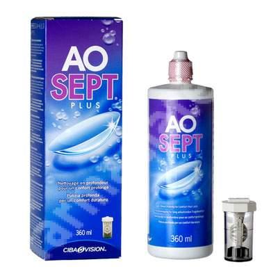 Soluție de întreținere pentru toate tipurile de lentile - Aosept Plus, 360 ml, Alcon