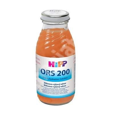Solutie de rehidratare morcov si orez ORS200, 200 ml, Hipp
