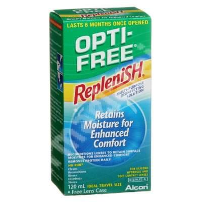 Soluție dezinfectantă pentru lentile de contact Opti-Free Replenish, 120 ml, Alcon